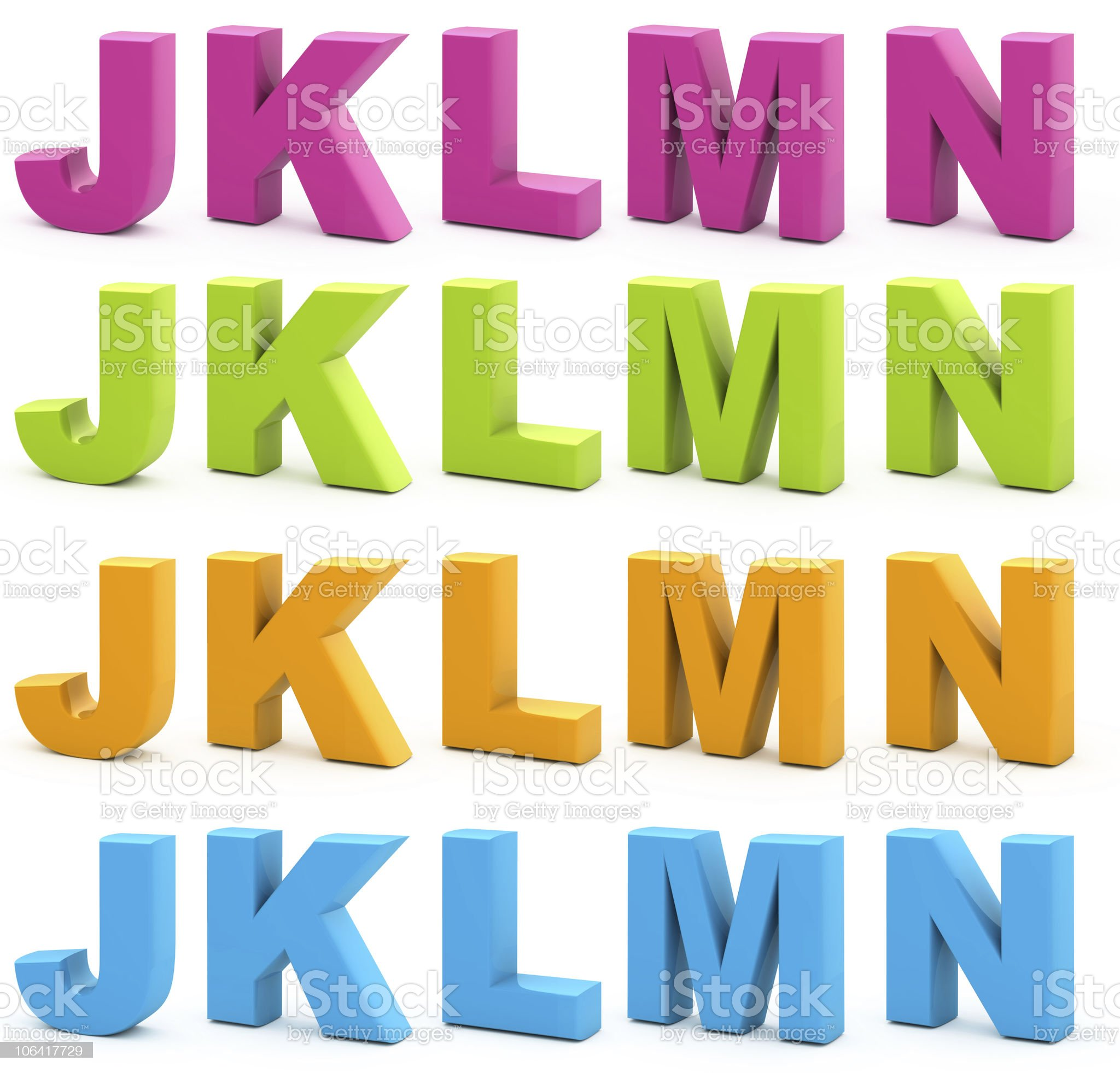 3d alphabet. royalty-free stock vector art