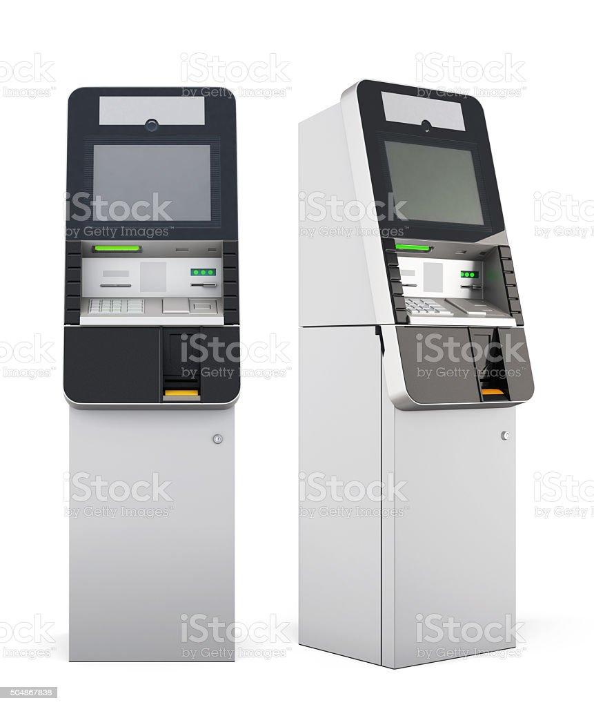 3d ATM machine. vector art illustration