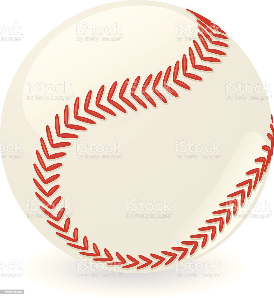 3d baseball vector art illustration