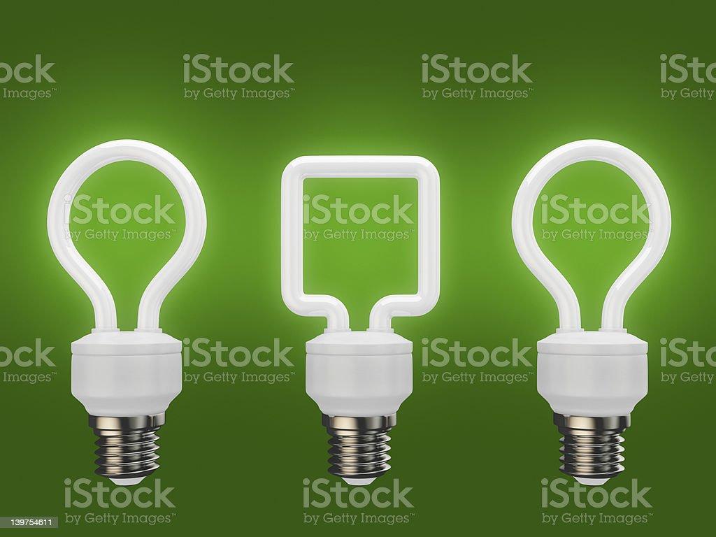 3d energy saving light bulbs, \tfluorescent vector art illustration