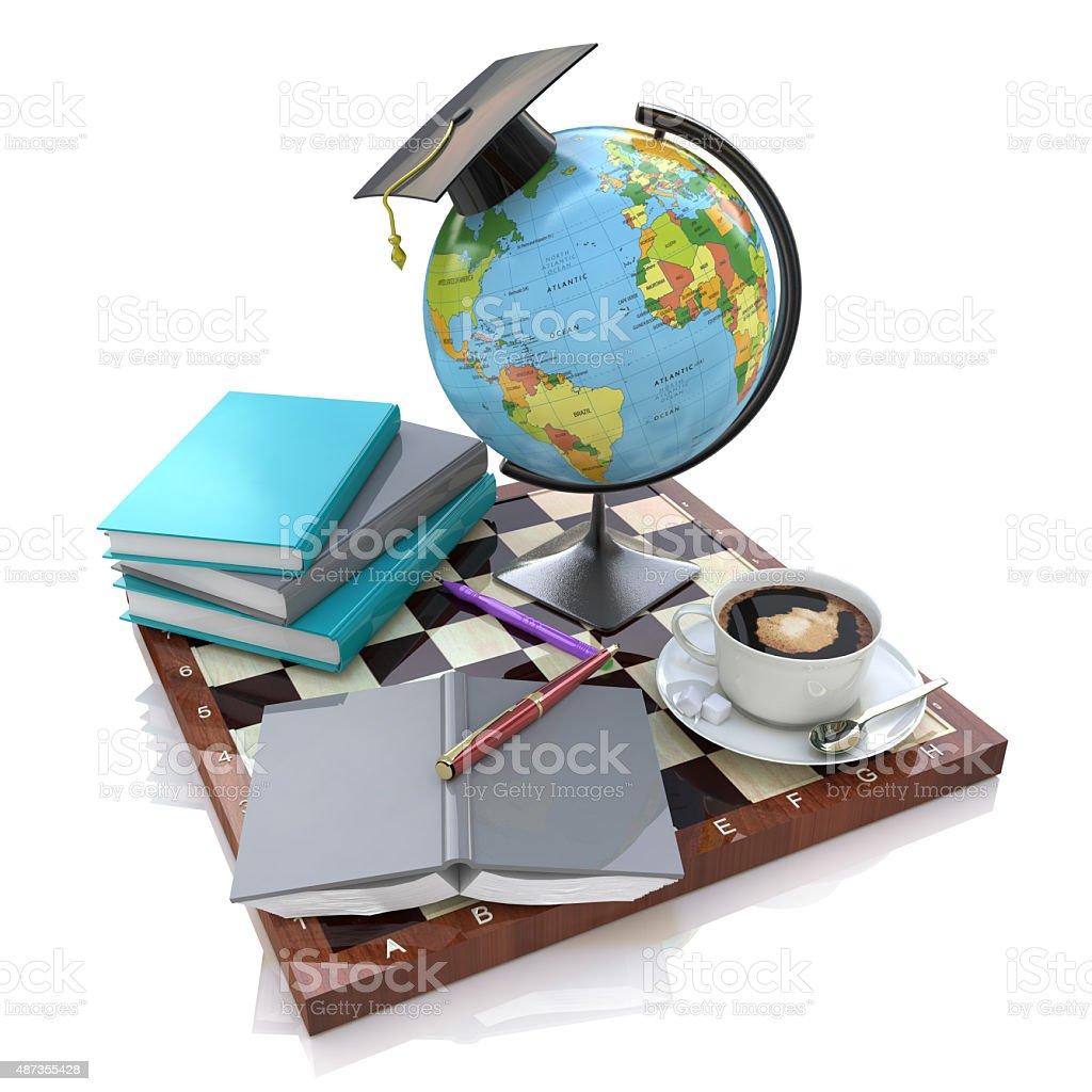 3d illustration of Education vector art illustration