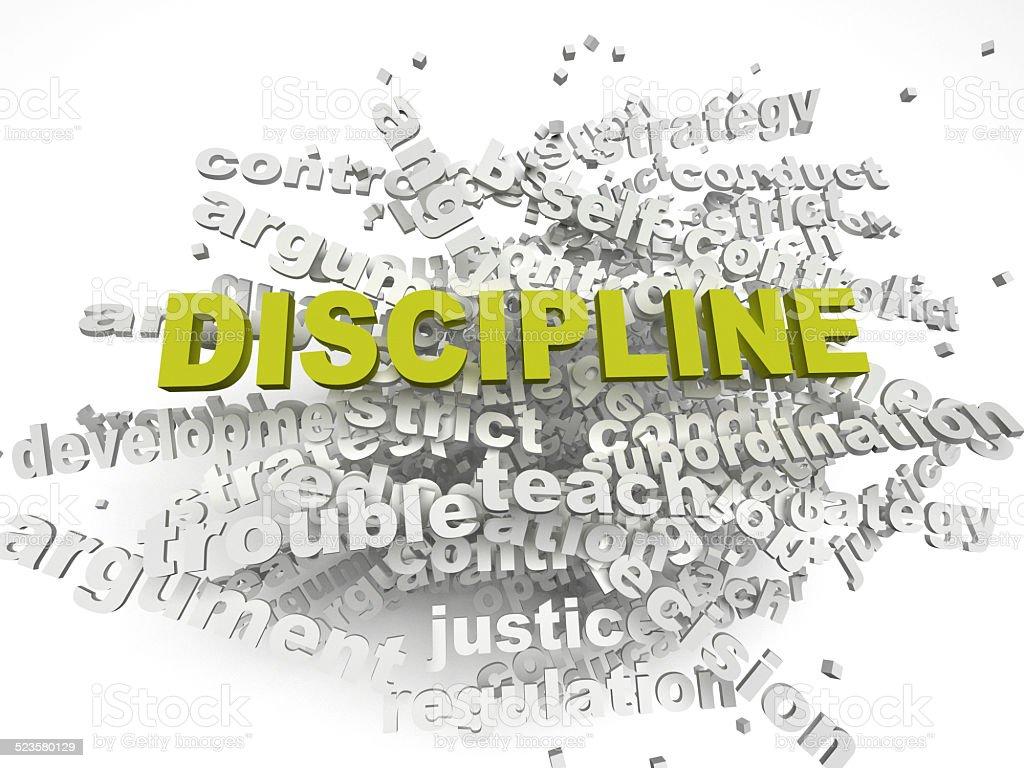 3d imagen Discipline issues concept word cloud background vector art illustration