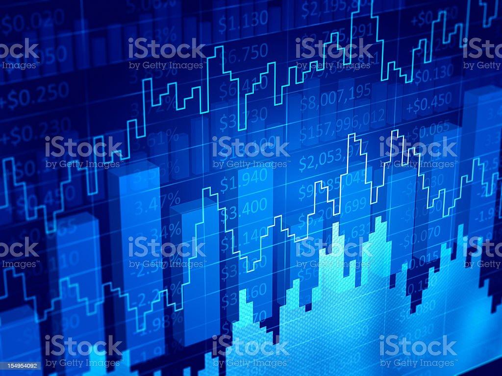 3d model of a financial diagram vector art illustration