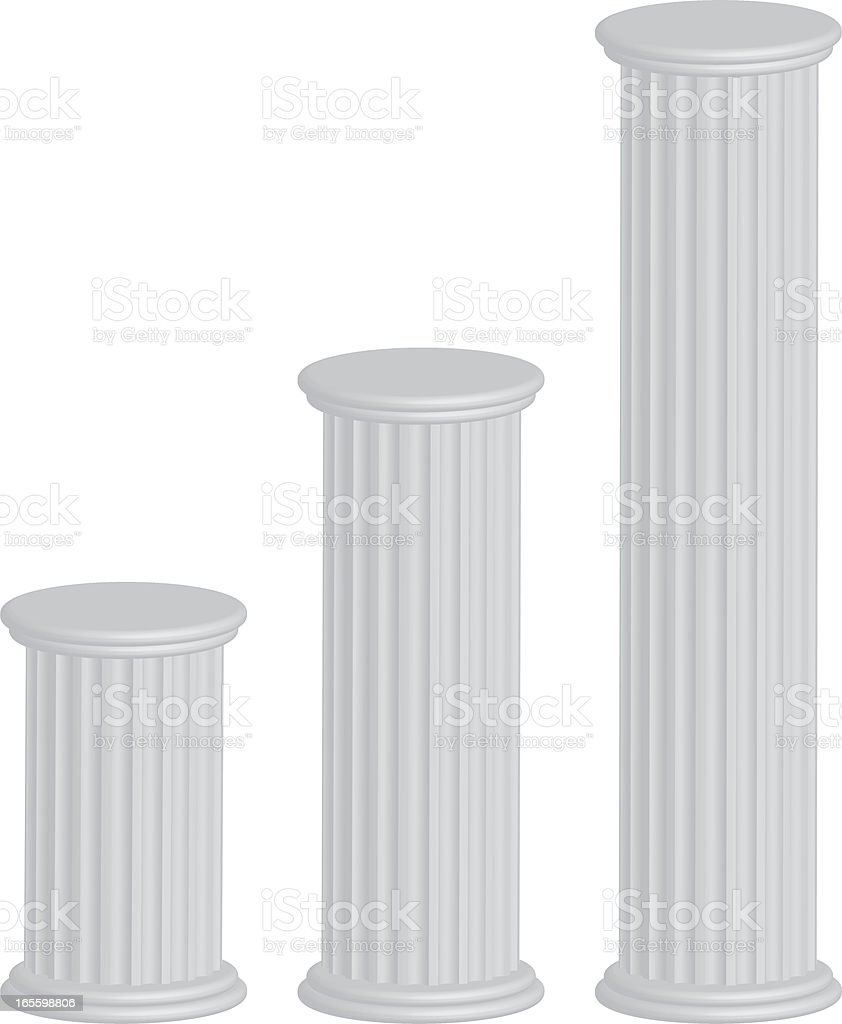 3d pillars royalty-free stock vector art
