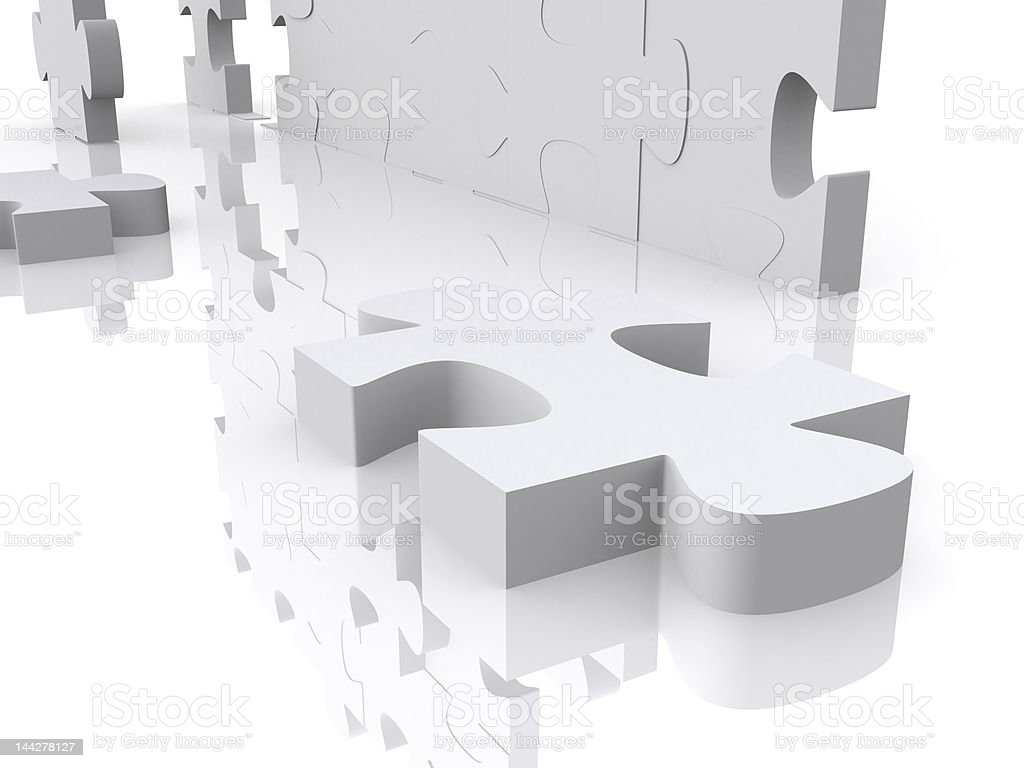 3d puzzle royalty-free stock vector art