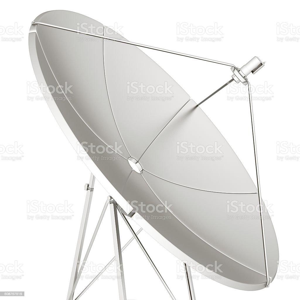 3d satellite Line vector art illustration