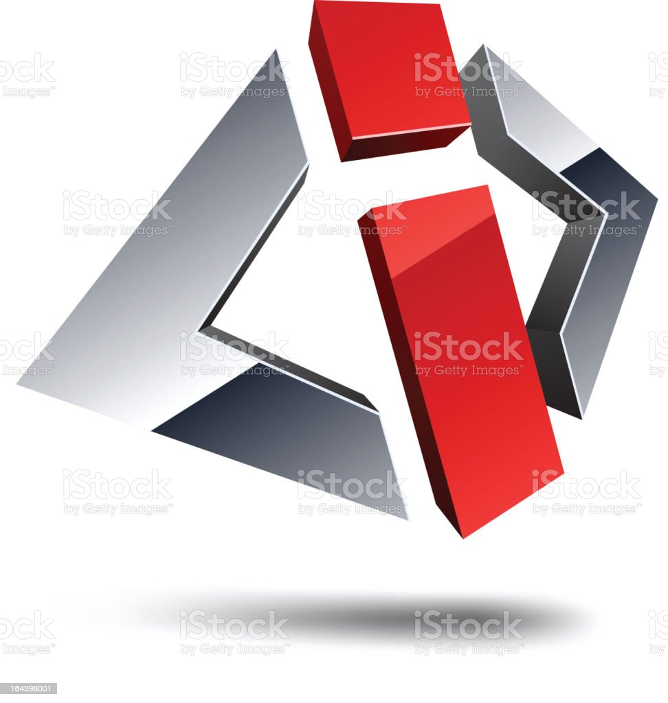 I 3d sign. royalty-free stock vector art
