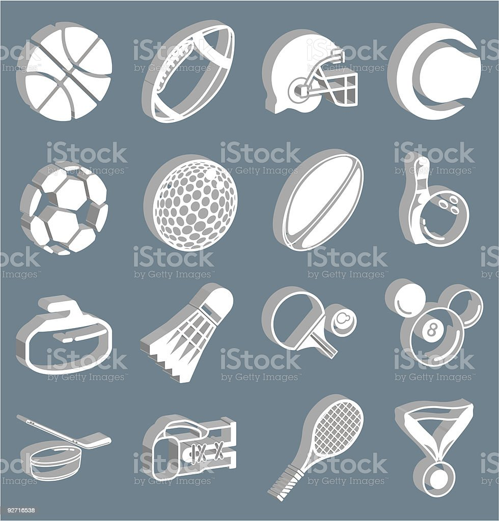 3d sport icons royalty-free stock vector art