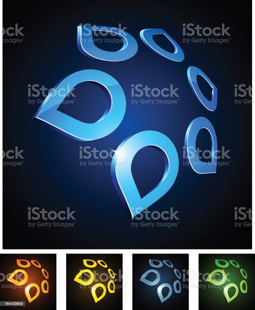 3d star shiny emblems. royalty-free stock vector art