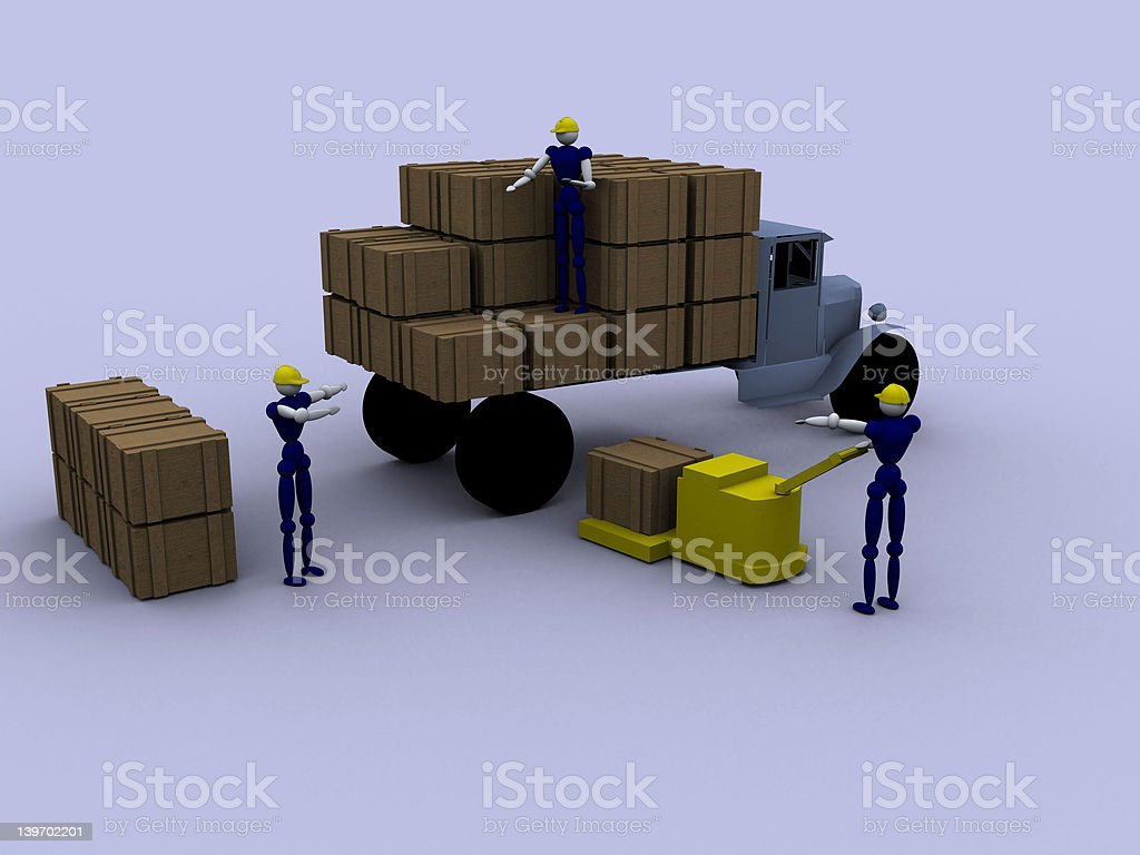 3d Workers royalty-free stock vector art