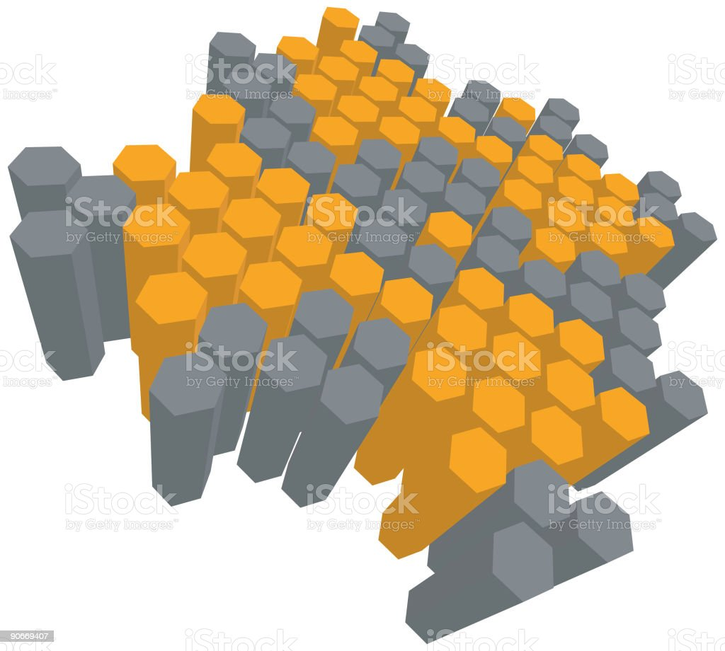 3D6sided royalty-free stock vector art