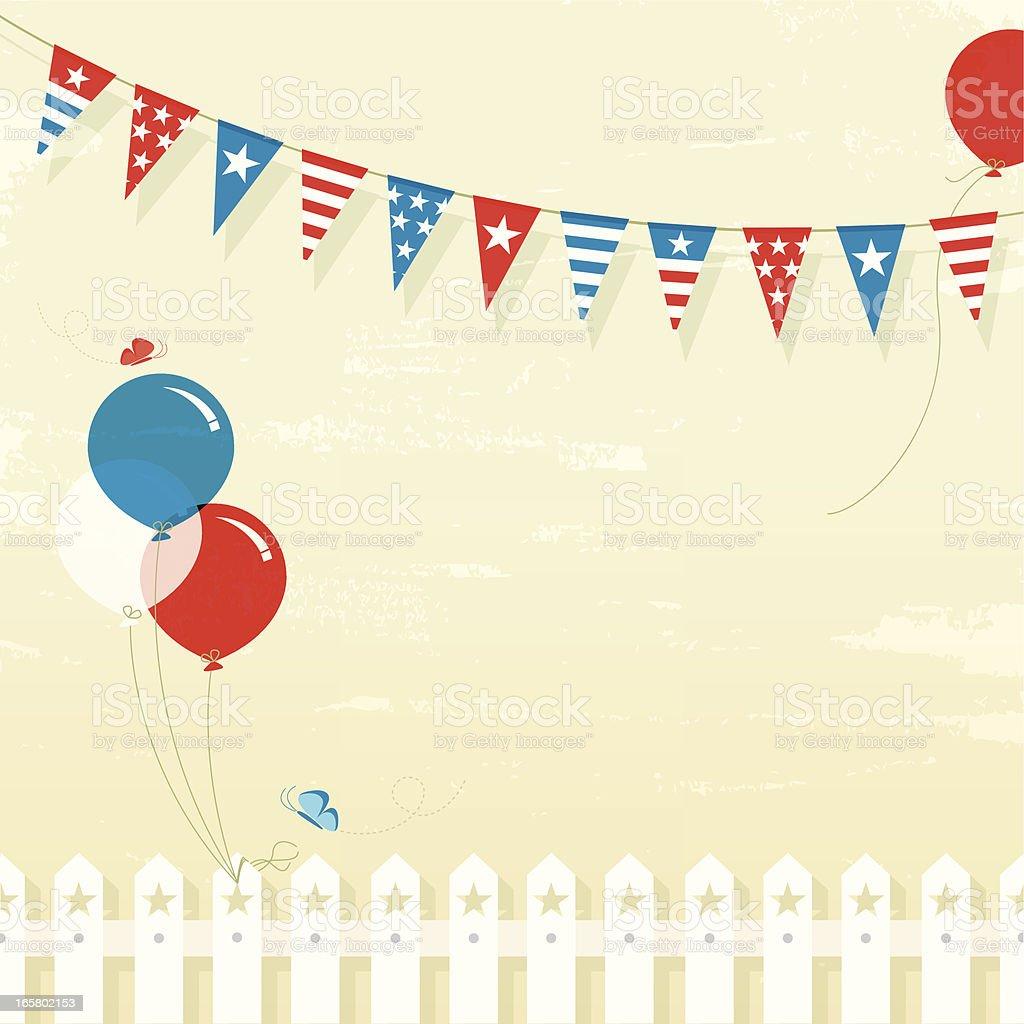 4th July celebration vector art illustration