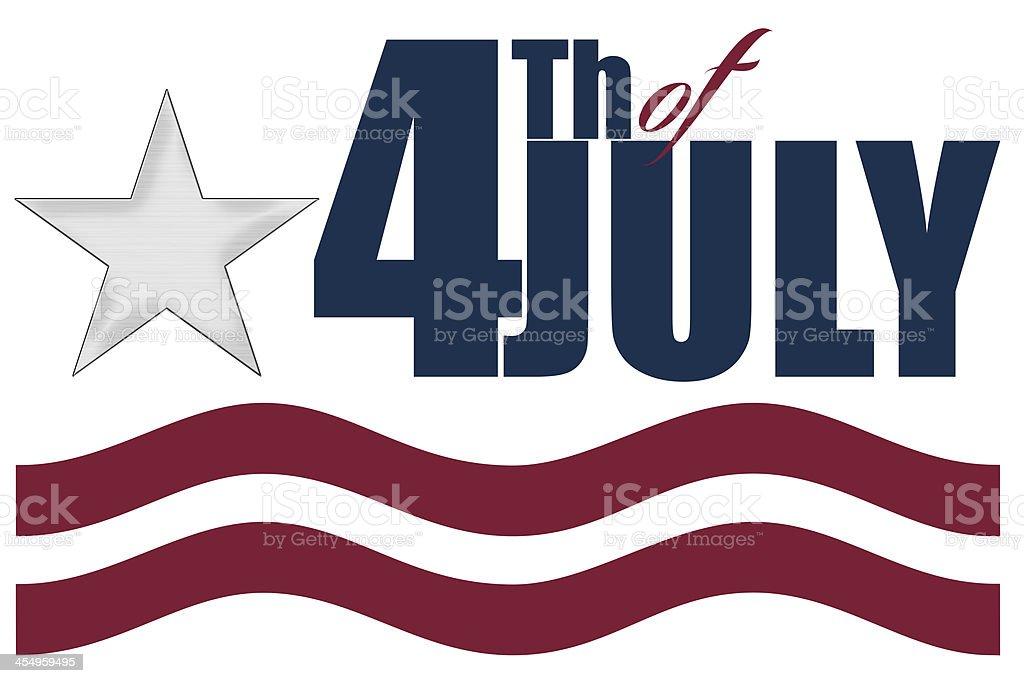 4Th of July celebration logo vector art illustration