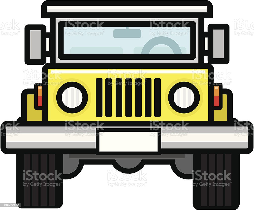 4x4 front view royalty-free stock vector art