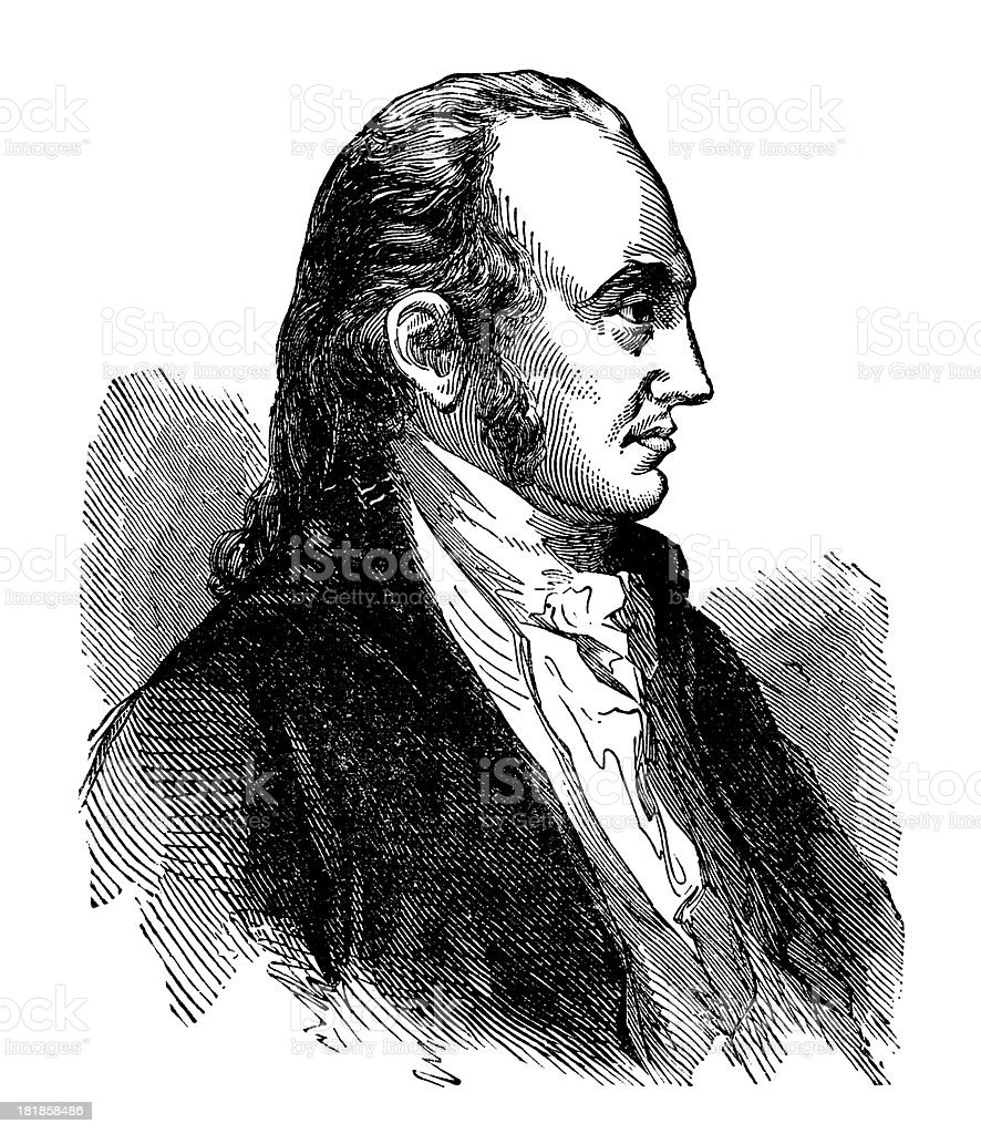 Aaron Burr,3rd Vice President of the United States (1801–1805). royalty-free stock vector art