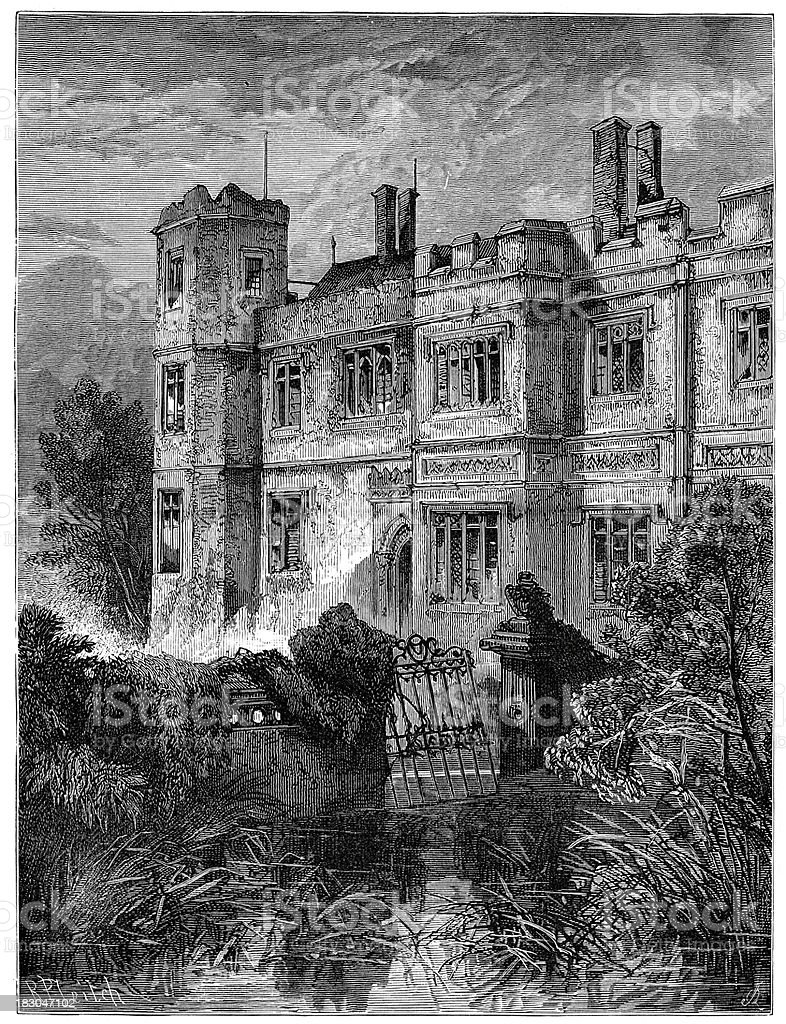 Abandoned Mansion Haunted House royalty-free stock vector art