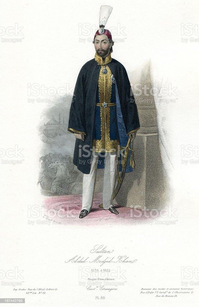 Abdülmecid I Abdul Mejid Sultan of Turkey royalty-free stock vector art