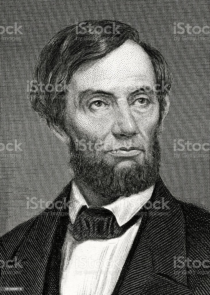 Abraham Lincoln vector art illustration