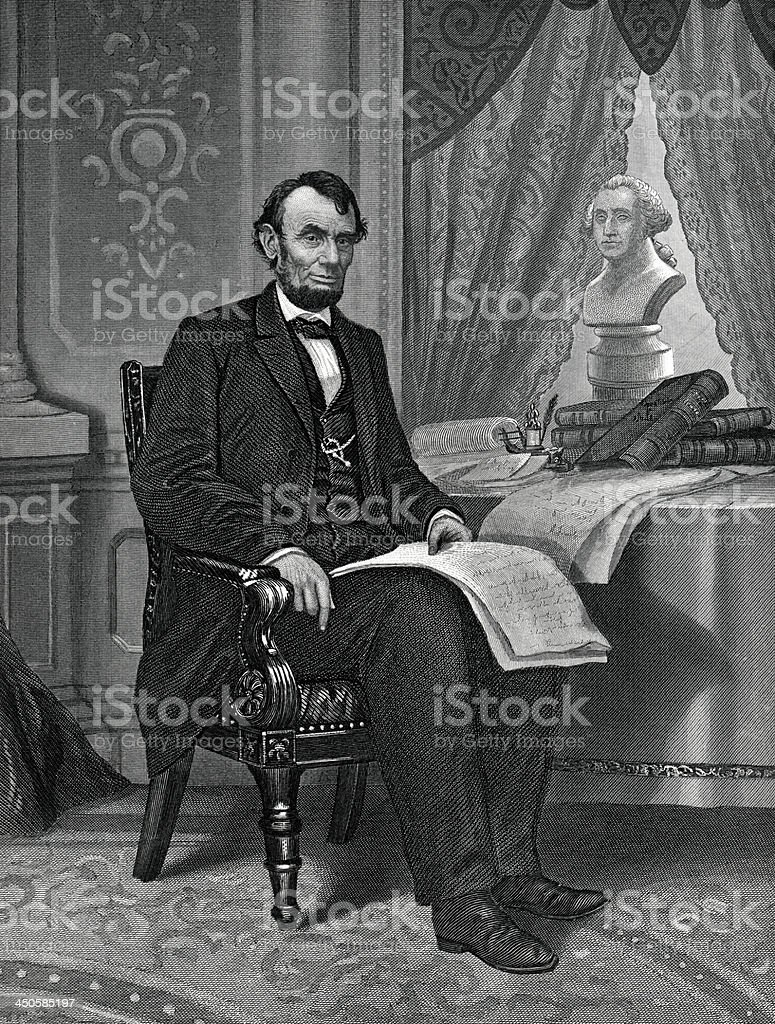 Abraham Lincoln royalty-free stock vector art