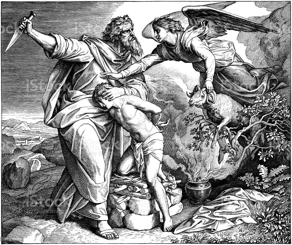 Abraham Sacrifices Isaac royalty-free stock vector art