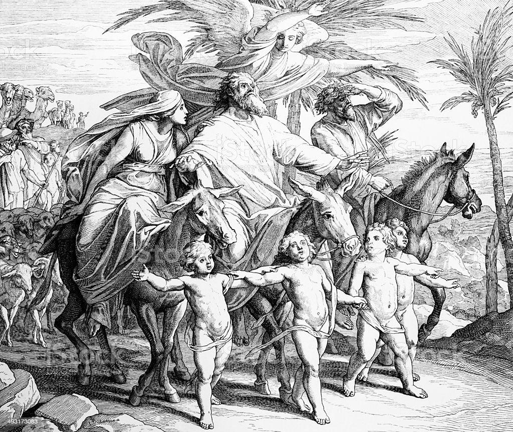 Abrahamic Covenant vector art illustration