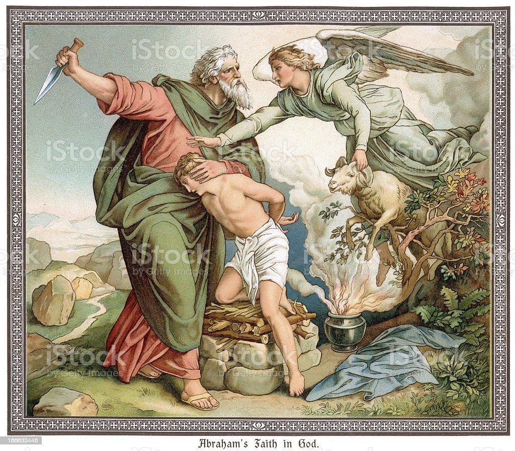 Abraham's Faith in God royalty-free stock vector art