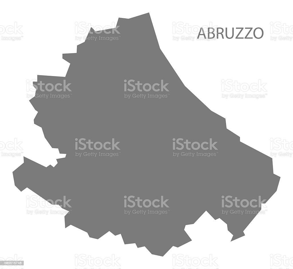 Abruzzo Italy Map grey vector art illustration
