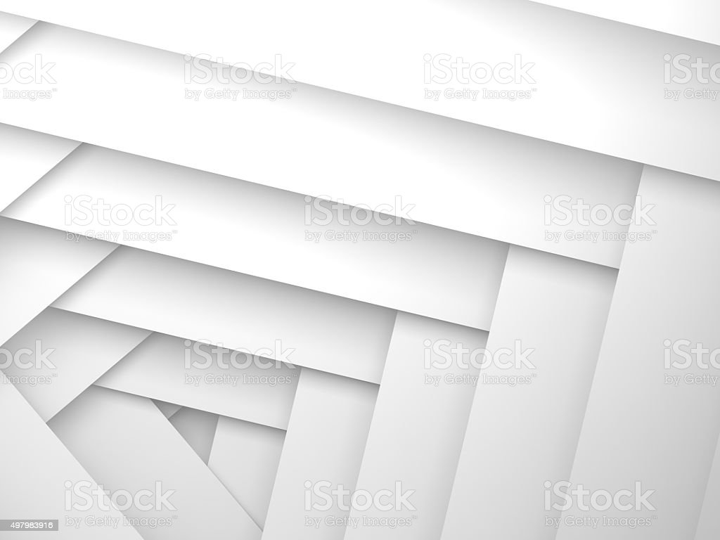 Abstract 3d background, white frame layers pattern vector art illustration