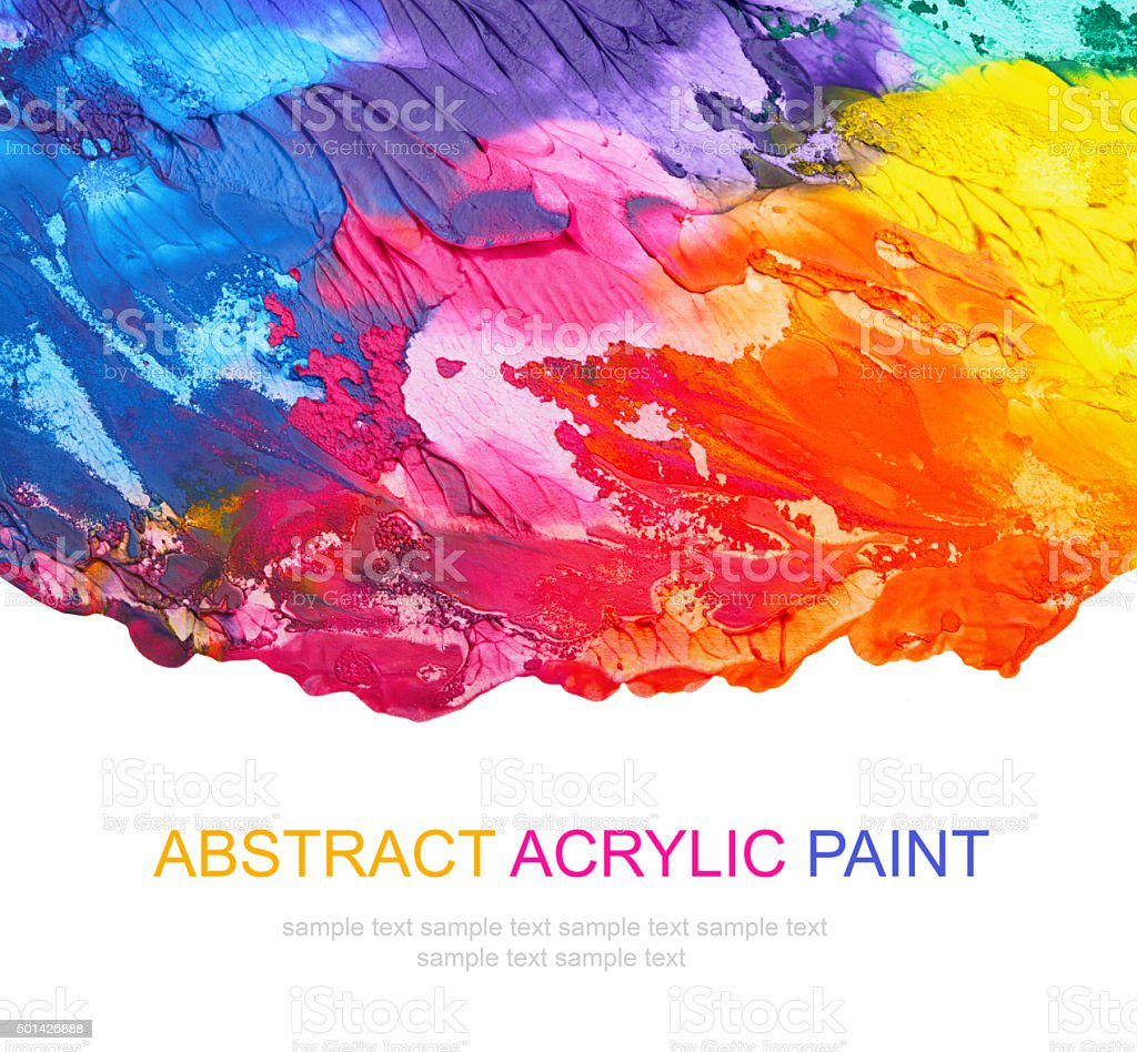 Abstract acrylic and watercolor brush strokes painted background. Texture paper. vector art illustration