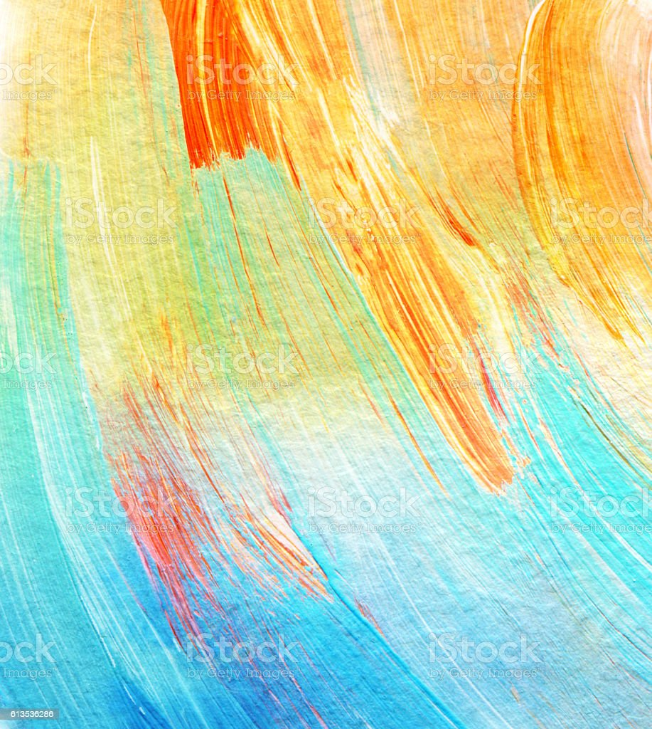Abstract acrylic and watercolor painted background. vector art illustration