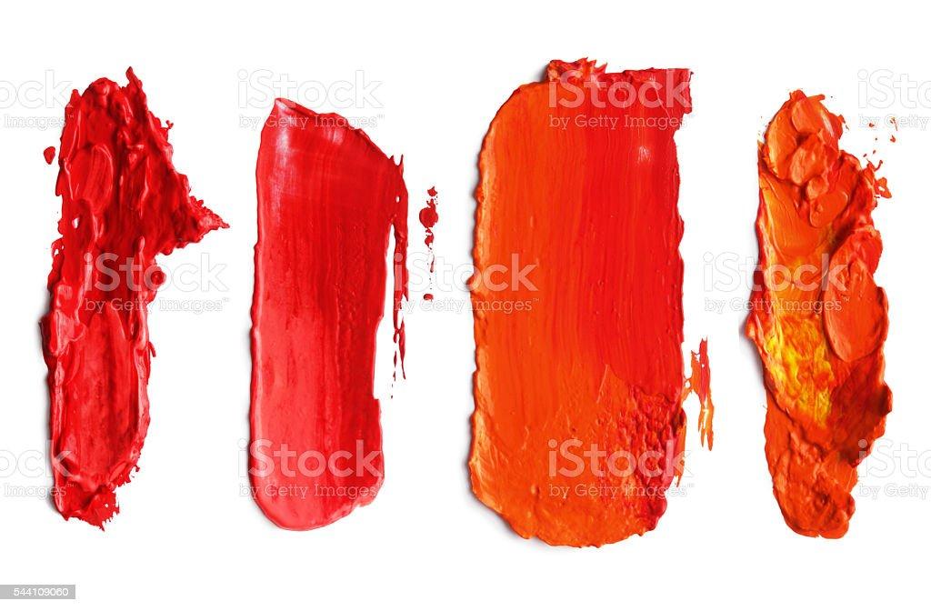 Abstract acrylic brush strokes. vector art illustration