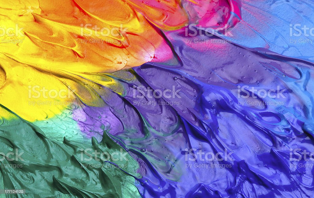 Abstract acrylic hand painted background royalty-free stock vector art