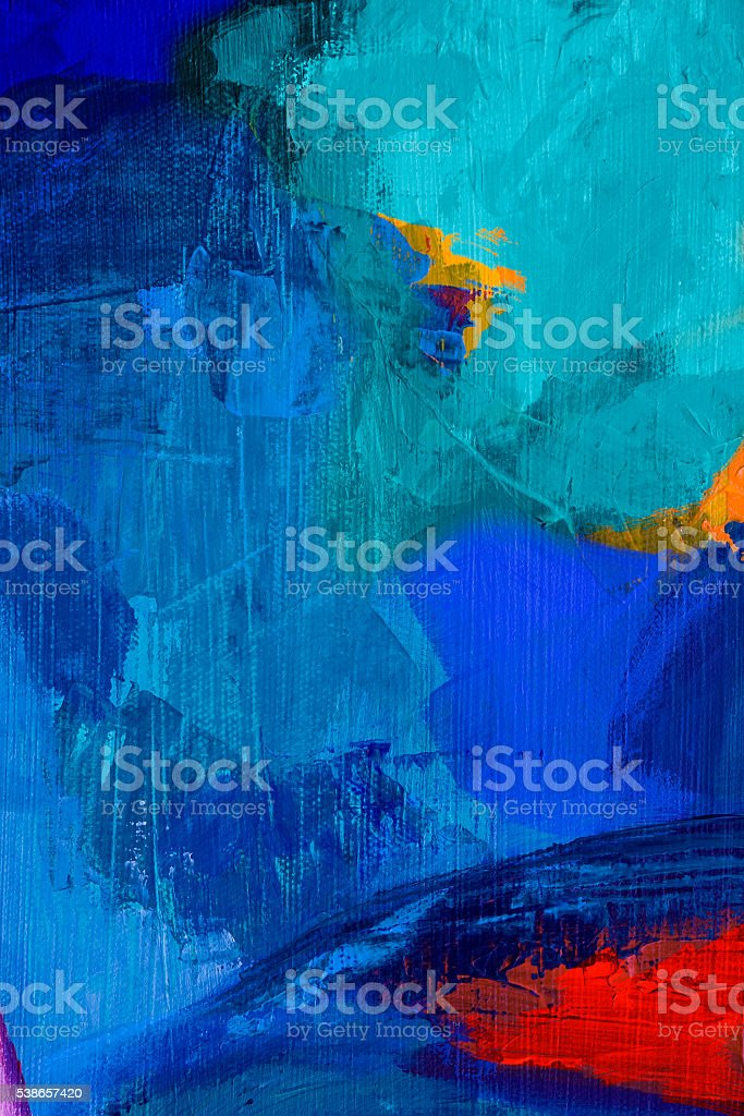 abstract acrylic painting vector art illustration