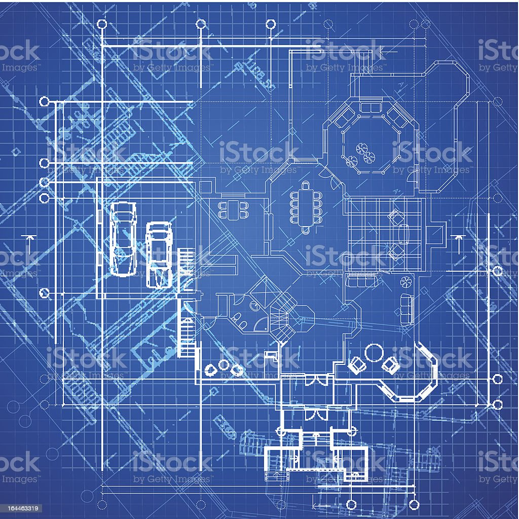 Abstract architectural background vector art illustration