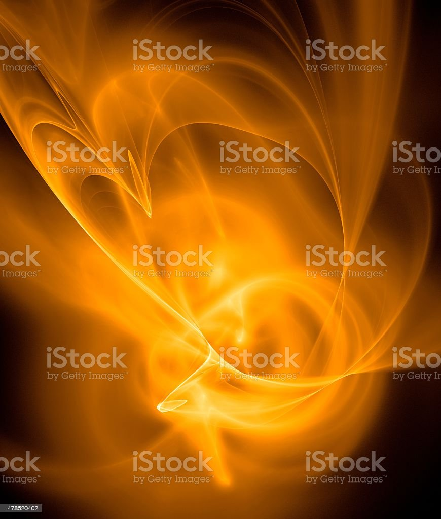 Abstract ardent background in yellow, black and orange vector art illustration