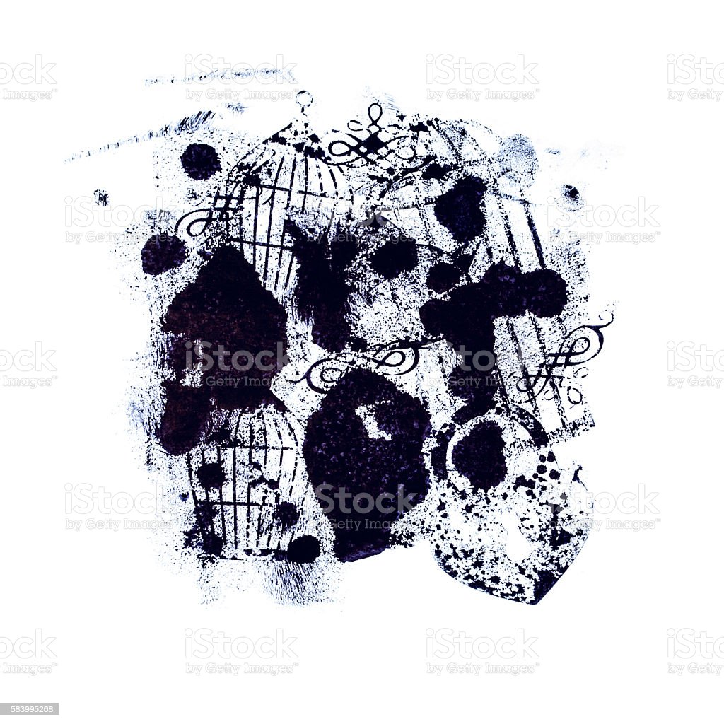 Abstract art blot. stock photo