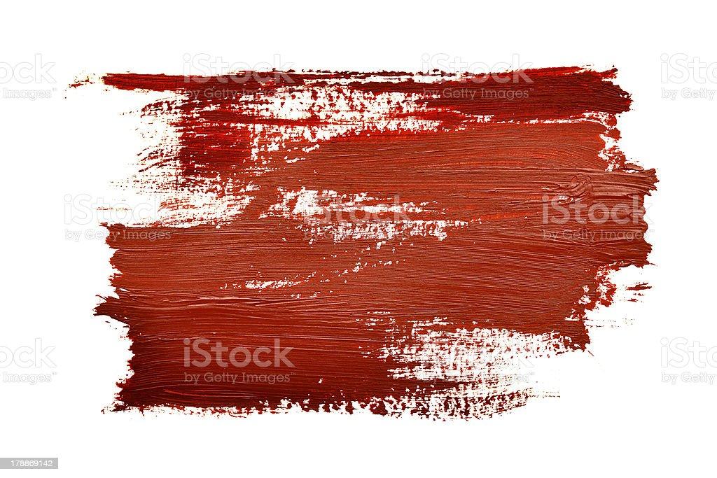 Abstract art featuring red brush strokes vector art illustration
