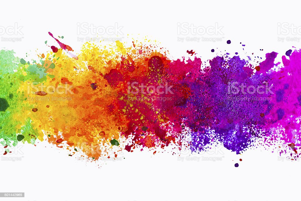Abstract artistic watercolor splash background vector art illustration
