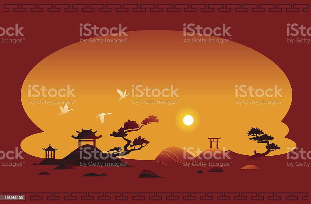 Abstract asian background royalty-free stock vector art