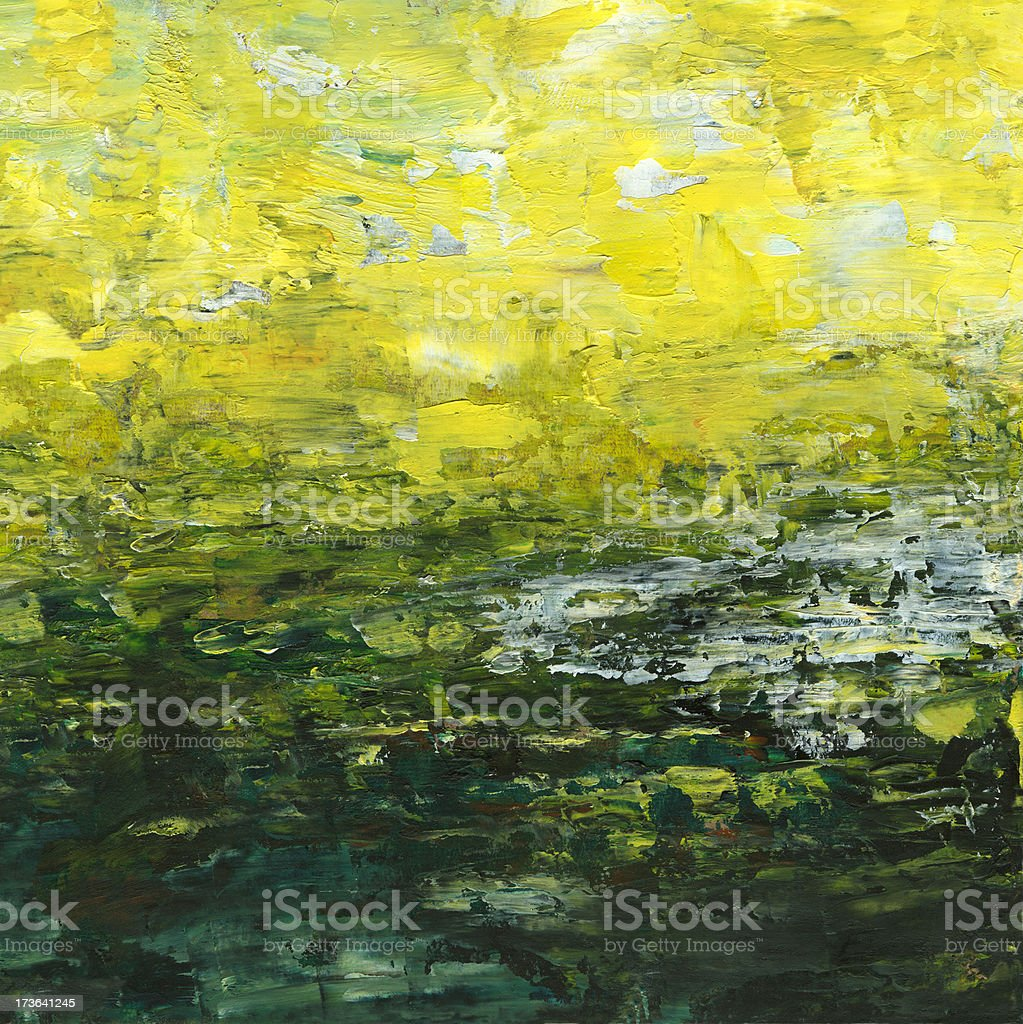 Abstrakt Hintergrund in der gelben und grünen Farben Lizenzfreies vektor illustration