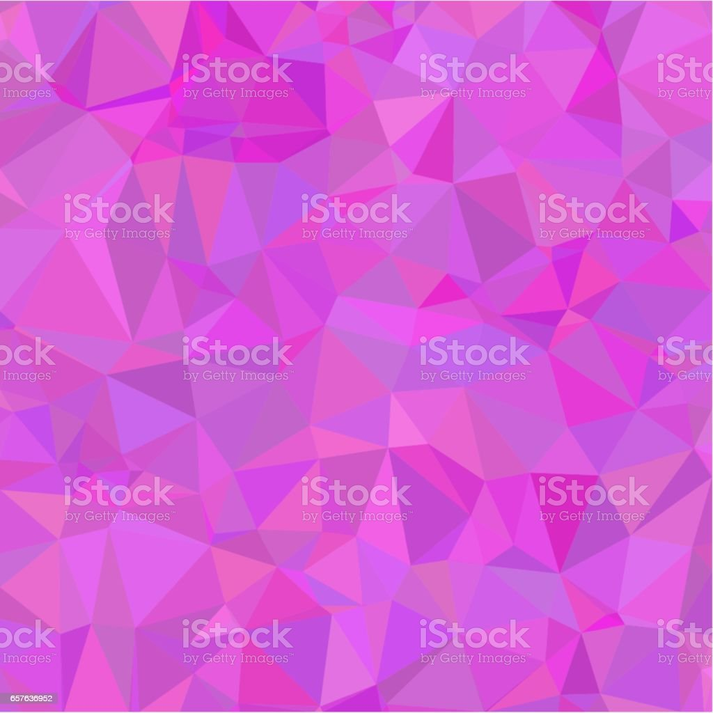 Abstract background of pink light and dark splinters in low-poly style vector art illustration