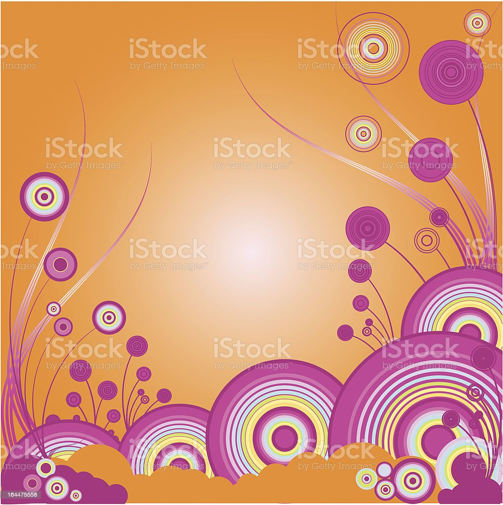 Abstract background orange vector art illustration