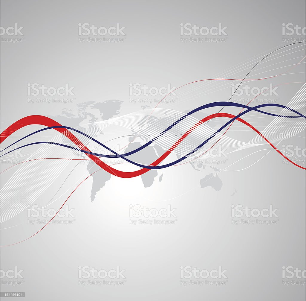Abstract background with map vector art illustration