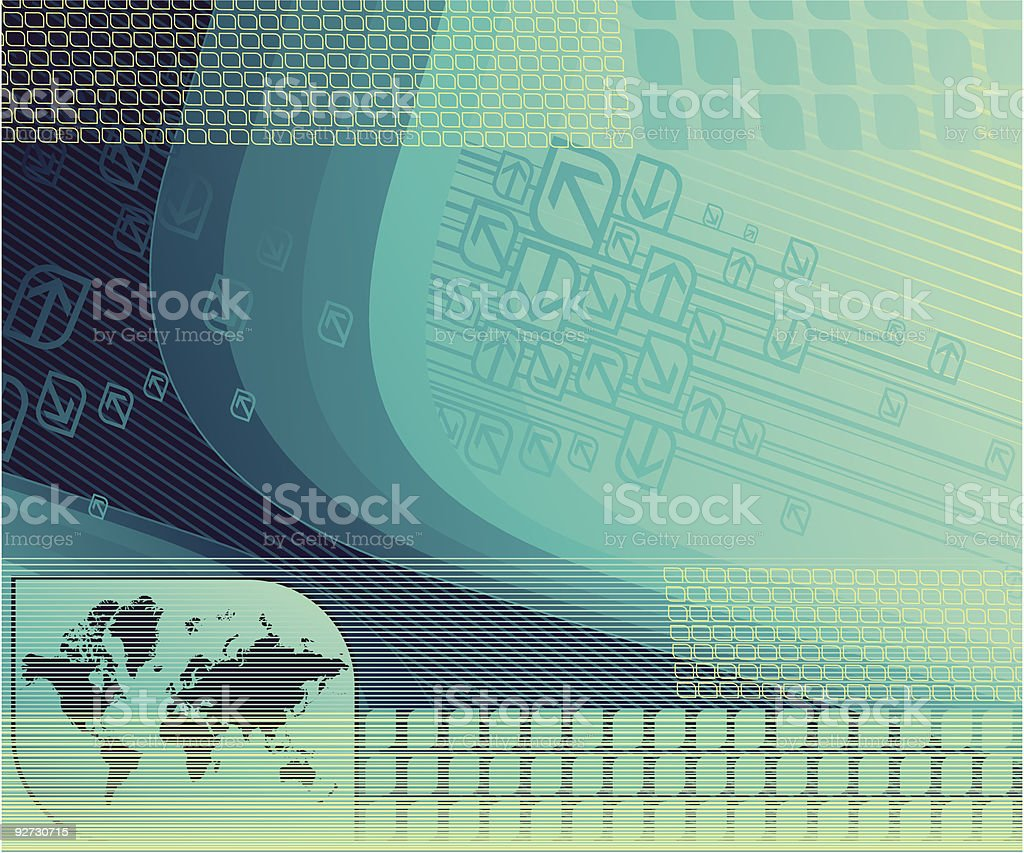 Abstract background with map. royalty-free stock vector art