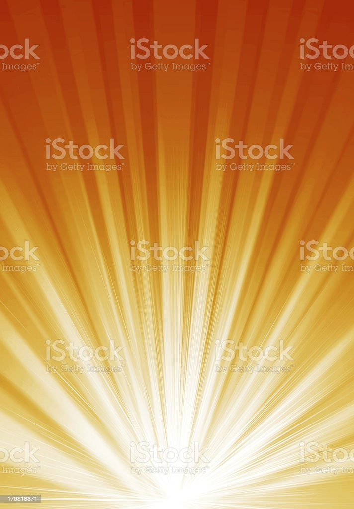 Abstract background with orange and white light royalty-free stock vector art