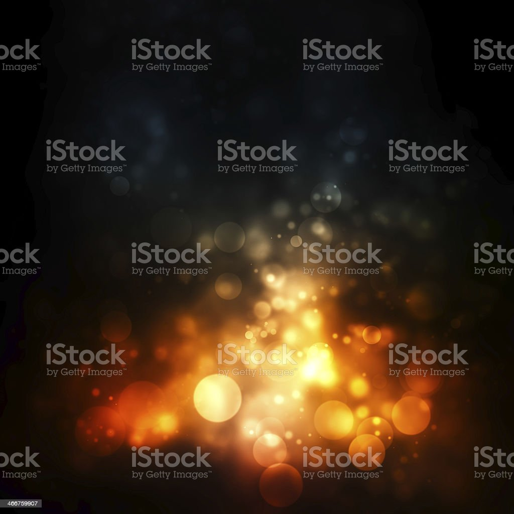 Abstract background with orange circular images vector art illustration
