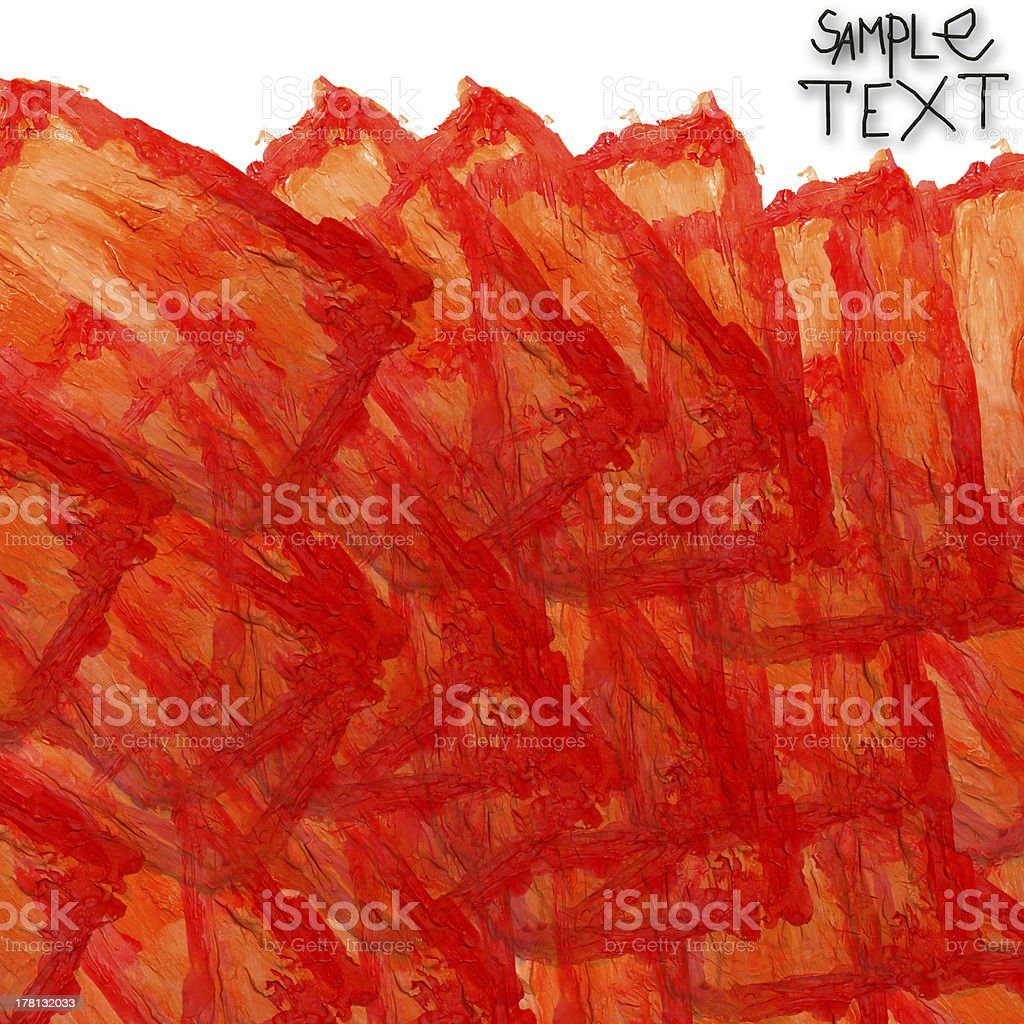 Abstract background with orange textured brush royalty-free stock vector art