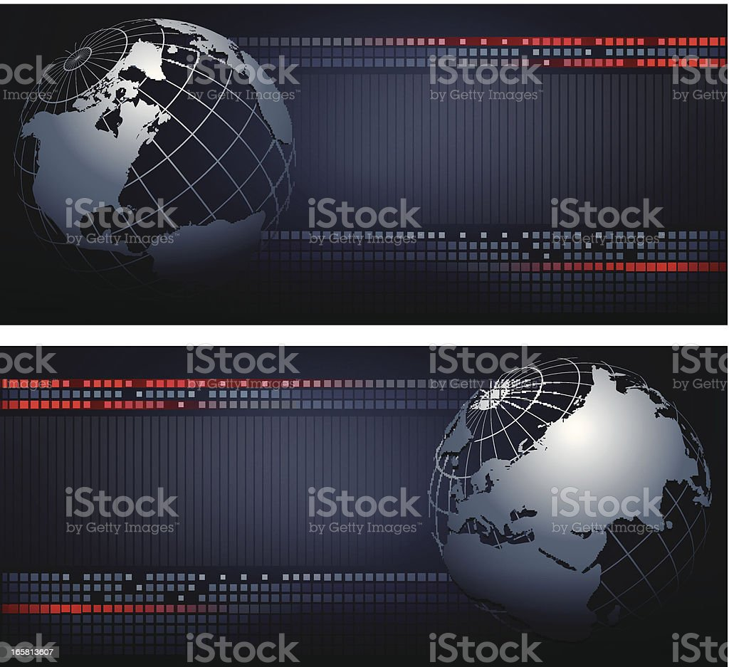 Abstract Background with the globe royalty-free stock vector art