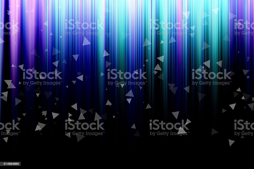 abstract background with vertical colorful stripes, with triangl vector art illustration
