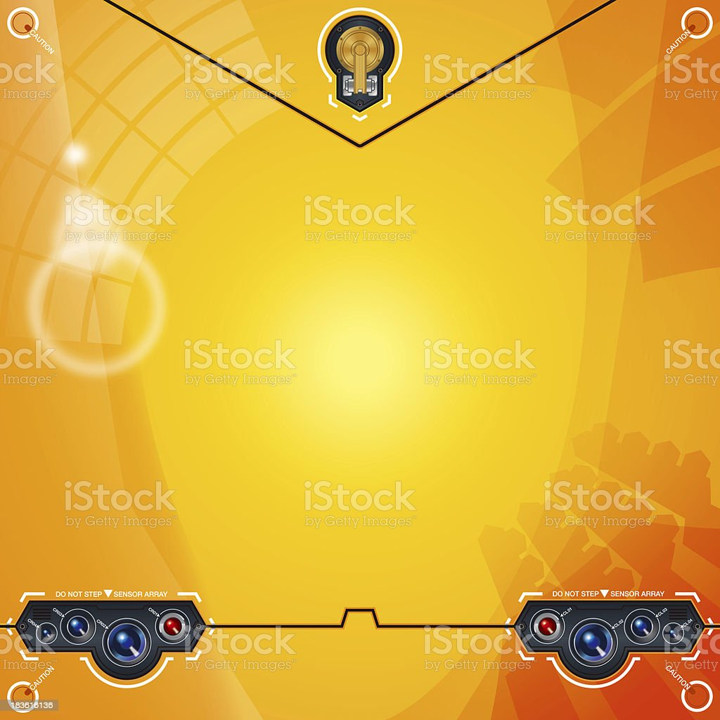 Abstract background[Camera eyes(yellow)] royalty-free stock vector art